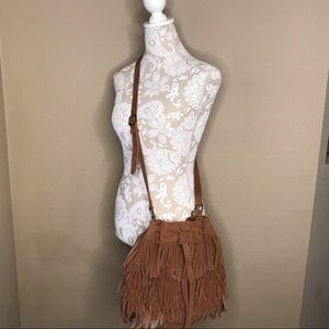 🍀 Lucky Brand Fringe Leather Cross Body Purse